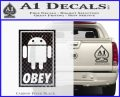 Android Obey Full Decal Sticker Carbon FIber Black Vinyl 120x97