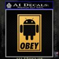 Android Obey Full Decal Sticker Gold Vinyl 120x120