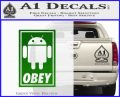 Android Obey Full Decal Sticker Green Vinyl Logo 120x97