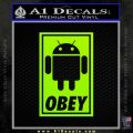 Android Obey Full Decal Sticker Lime Green Vinyl 120x120