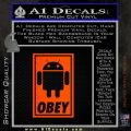 Android Obey Full Decal Sticker Orange Emblem 120x120