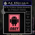 Android Obey Full Decal Sticker Pink Emblem 120x120