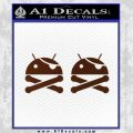 Android Root Super User Decal Sticker 2 Pack BROWN Vinyl 120x120