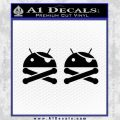 Android Root Super User Decal Sticker 2 Pack Black Vinyl 120x120