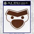 Angry Birds Close D1 Decal Sticker BROWN Vinyl 120x120