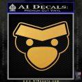 Angry Birds Close D1 Decal Sticker Gold Vinyl 120x120