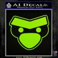 Angry Birds Close D1 Decal Sticker Lime Green Vinyl 120x120
