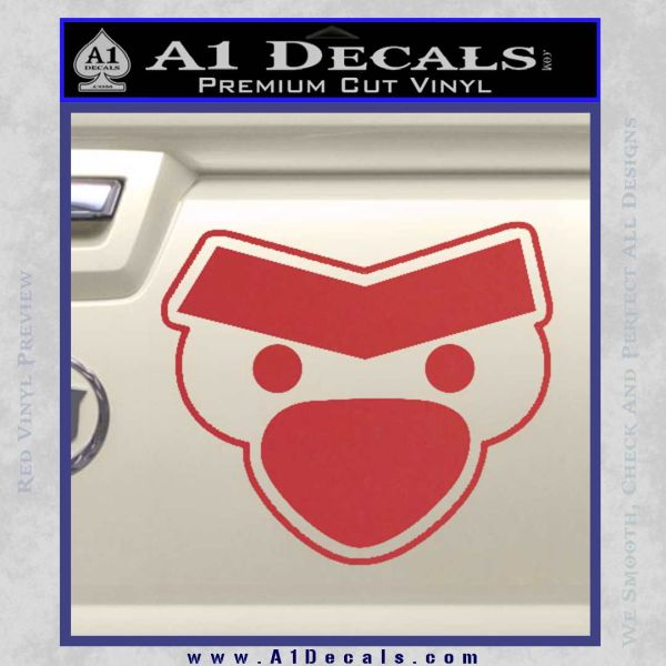 Angry Birds Close D1 Decal Sticker Red