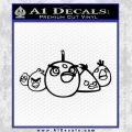 Angry Birds Decal Sticker Wide Black Vinyl 120x120