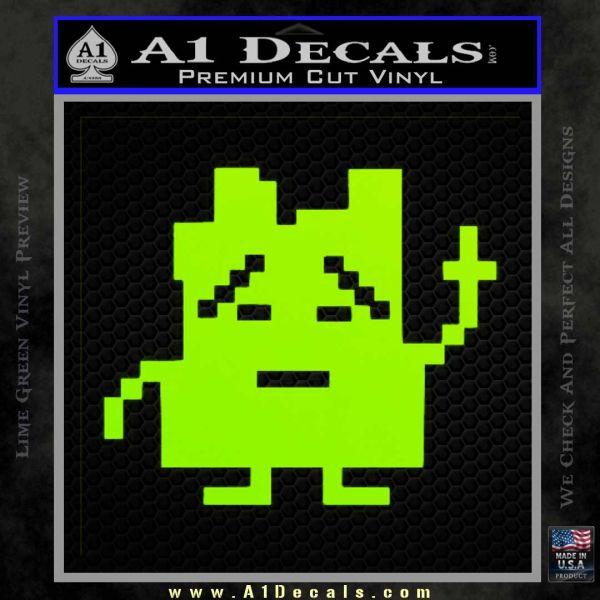 Aqua Teen Hunger Force Decal Sticker Alien Lime Green Vinyl