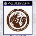 Archer ISIS Spy Logo Decal Sticker BROWN Vinyl 120x120