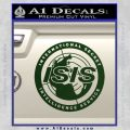 Archer ISIS Spy Logo Decal Sticker Dark Green Vinyl 120x120