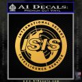 Archer ISIS Spy Logo Decal Sticker Gold Vinyl 120x120