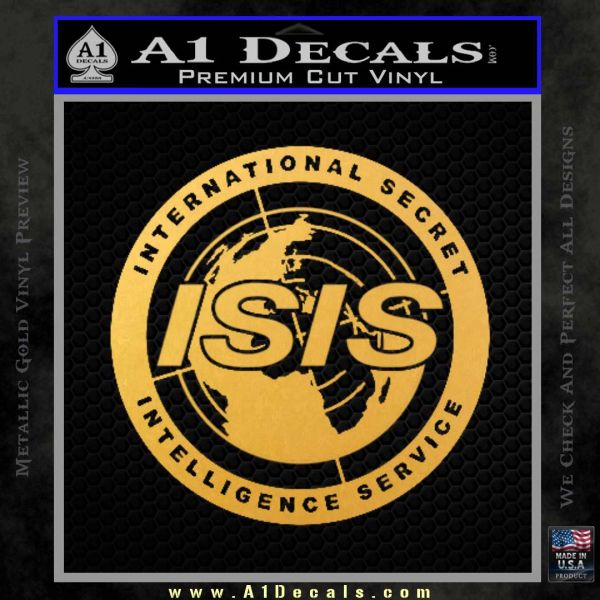 Archer ISIS Spy Logo Decal Sticker Gold Vinyl