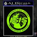 Archer ISIS Spy Logo Decal Sticker Lime Green Vinyl 120x120