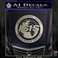 Archer ISIS Spy Logo Decal Sticker Metallic Silver Emblem 120x120