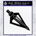 Archery Broadhead Decal Sticker Black Vinyl 120x120