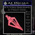 Archery Broadhead Decal Sticker Pink Emblem 120x120