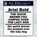 Custom Text Decal Sticker 1 Black Vinyl 120x120
