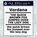 Custom Text Decal Sticker 7 Black Vinyl 120x120