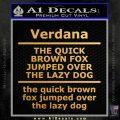 Custom Text Decal Sticker 7 Gold Vinyl 120x120