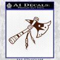 Indian Tomahawk Decal Sticker BROWN Vinyl 120x120
