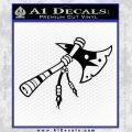 Indian Tomahawk Decal Sticker Black Vinyl 120x120