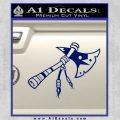Indian Tomahawk Decal Sticker Blue Vinyl 120x120