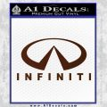 Infinity Stacked Fat Decal Sticker BROWN Vinyl 120x120