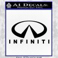 Infinity Stacked Fat Decal Sticker Black Vinyl 120x120
