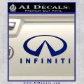 Infinity Stacked Fat Decal Sticker Blue Vinyl 120x120