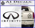 Infinity Stacked Fat Decal Sticker Carbon FIber Black Vinyl 120x97