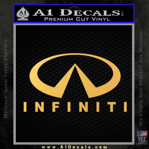 Infinity Stacked Fat Decal Sticker Gold Vinyl