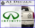 Infinity Stacked Fat Decal Sticker Green Vinyl Logo 120x97
