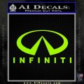 Infinity Stacked Fat Decal Sticker Lime Green Vinyl 120x120