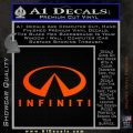 Infinity Stacked Fat Decal Sticker Orange Emblem 120x120