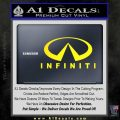 Infinity Stacked Fat Decal Sticker Yellow Laptop 120x120