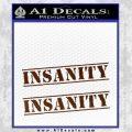 Insanity Workout D1 Decal Sticker BROWN Vinyl 120x120