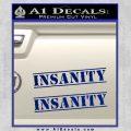 Insanity Workout D1 Decal Sticker Blue Vinyl 120x120