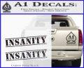 Insanity Workout D1 Decal Sticker Carbon FIber Black Vinyl 120x97