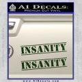Insanity Workout D1 Decal Sticker Dark Green Vinyl 120x120