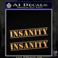 Insanity Workout D1 Decal Sticker Gold Vinyl 120x120