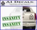 Insanity Workout D1 Decal Sticker Green Vinyl Logo 120x97
