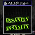 Insanity Workout D1 Decal Sticker Lime Green Vinyl 120x120