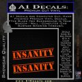 Insanity Workout D1 Decal Sticker Orange Emblem 120x120