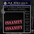 Insanity Workout D1 Decal Sticker Pink Emblem 120x120