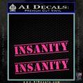 Insanity Workout D1 Decal Sticker Pink Hot Vinyl 120x120