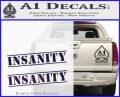 Insanity Workout D1 Decal Sticker PurpleEmblem Logo 120x97