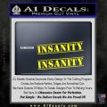 Insanity Workout D1 Decal Sticker Yellow Laptop 120x120