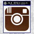 Instagram SQ Decal Sticker BROWN Vinyl 120x120